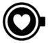 Logo for coffee lovers - an abstract of a coffee cup with a heart inside